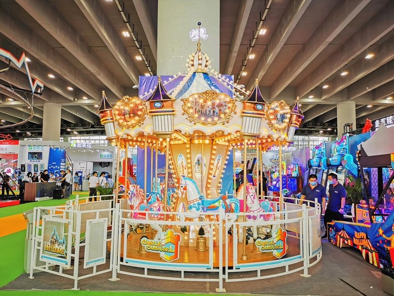 Amusement Park Ride8 palaces carousel|luxury Carnival Rides Merry Go Round Game For Sale