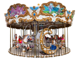 Amusement Park Ride 16 people carousel|luxury Carnival Rides Merry Go Round Game For Sale