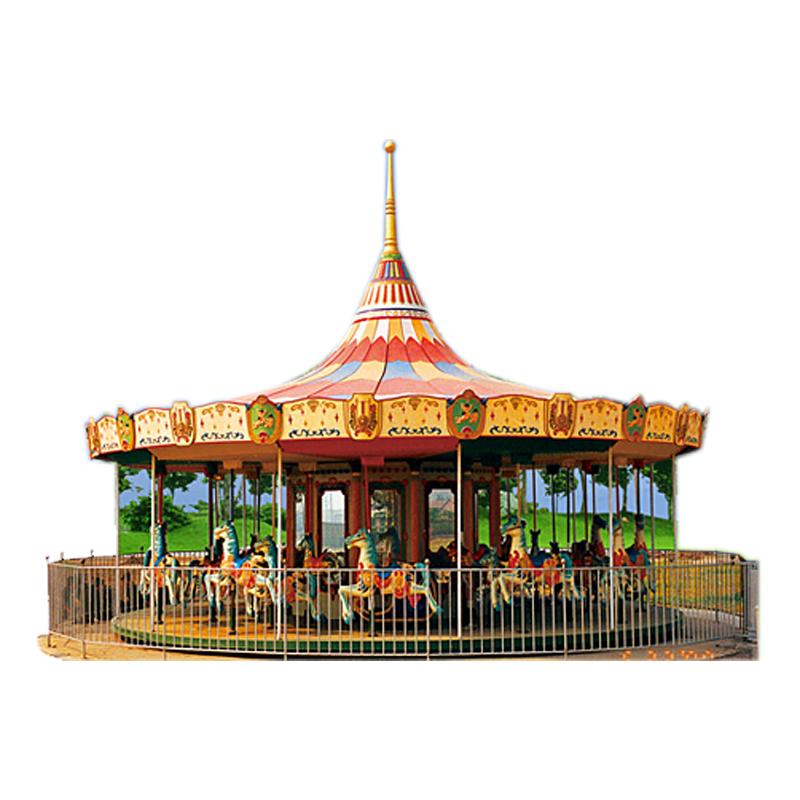 Amusement Park Ride 24 carousels