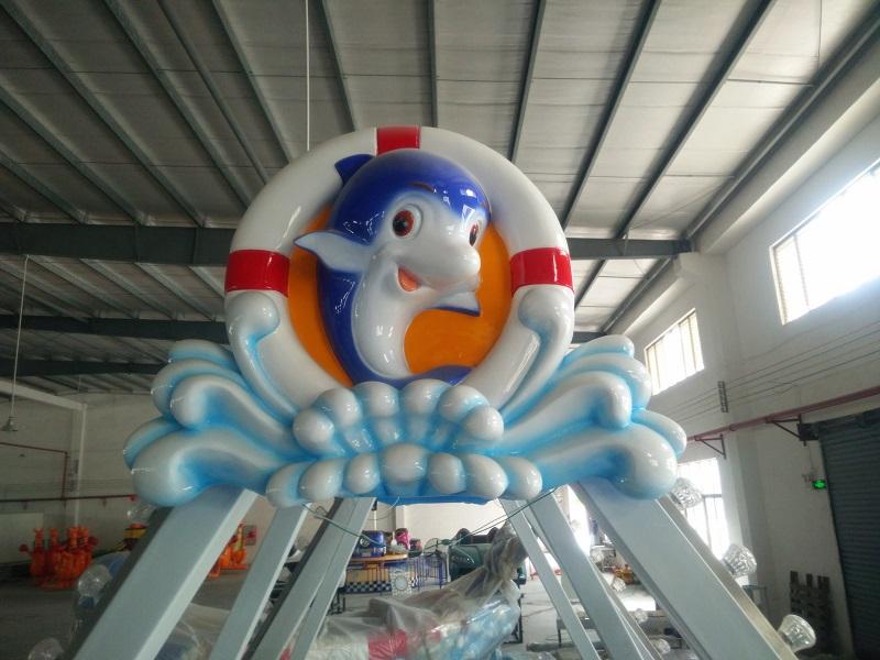 Factory Price Dolphin boat amusement equipment|Amusement Park Swing Viking Boat For Sale
